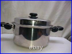 Saladmaster Versa Tec TP304-316 Surgical Stainless 7Qt Stockpot Dutch Oven Lid