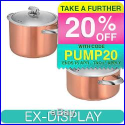Scanpan Clad CS5 5.2L & 7L Casserole/Stock Pot Stainless Steel/Copper withCleaner