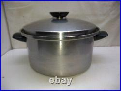 Seal-O-Matic Stainless 6.5 Qt Stock Pot Sauce Saute Pan Dutch Oven & Lid