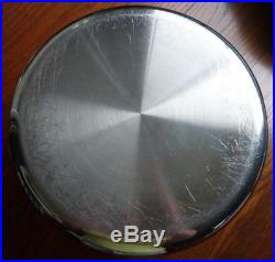Stainless Steel ALL CLAD Large 8 QT Stock Pot 11.25 x 5.25 Used