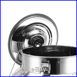 Stainless Steel Barrel Drum Wine Beer Whiskey Storage Tank Cup Stock Pot Lager