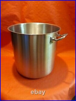 Stainless Steel Deep Stock Pot Stew Soup Cooking Boiling Pot 36 Litres
