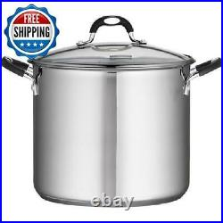 Stainless Steel Stock Pot 12 16 22 Quart Stockpot Lid Beer Soup Kitchen Cooking