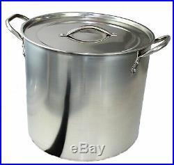 Stainless Steel Stock Pot 7 Lt. 1QT RRP £15 Brew Boiling Stew Soup Cooking PoT