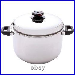 Steam Control 12qt 12-Element T304 Stainless Steel Stockpot