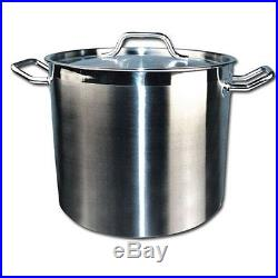 Stock Pot & Cover 40 Qt. 18 8 Stainless Steel Induction Ready Tri-Ply Base