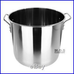Stock Pot Stainless Steel 40 QT Lid Steamer Big Vaporera Kettle Tamales New 10G