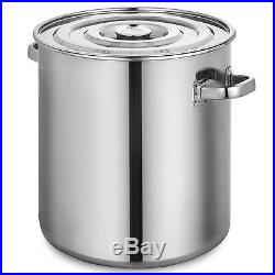 Stock Pot With 137.5Qt Stainless Steel Seafood Crab Stockpot Steam Boil + Lid