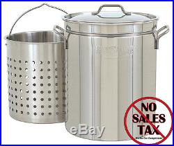 Stock Pot With 44 Qt Stainless Steel Seafood Stockpot Steam Boil Basket