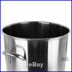 Stockpot Stainless Steel 36Qt Pot Strainer Basket Heavy Duty Outdoor Stock pot