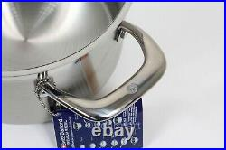 Swiss Diamond Premium Steel, Stainless stock pot 6 Qt, 9.5 with lid