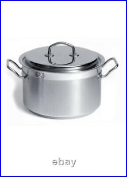 TEKNIKA by SILGA Milano 12020 Stainless Steel High Casserole 20cm LID ITALY NWT
