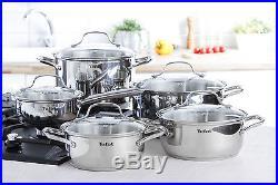 Tefal cookware set Uno 10 pcs saucepan stewpots stockpot glas lid pots