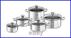 Tefal cookware set duetto 10 pcs saucepan stewpots stockpot glas lid pots