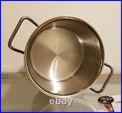 Teknika by SILGA Stainless Steel 18/10 Casserole Stock Pot 20cm 3Qt #12020 NEW