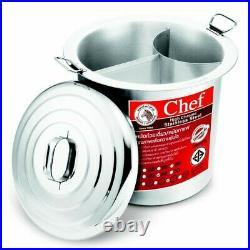 Thai Noodle Soup Stockpot Pot Stainless Steel Zebra Chef 36 cm