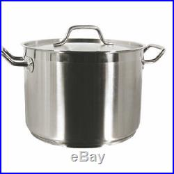 Thunder Group 24 QT 18/8 STAINLESS STOCK POT With LID SLSPS024 Stock Pot NEW