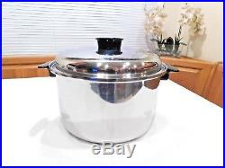 Townecraft Chefs Ware 12 Qt Stock Pot & LID T304 Multicore Stainless Waterless