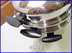Townecraft Chefs Ware 12 Qt Stock Pot Steamer Dome LID T304 Multicore Stainless