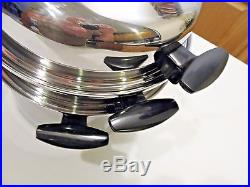 Townecraft Chefs Ware 8 Qt Stock Pot Steamer Dome LID T304 Multicore Stainless