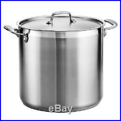 Tramontina 80120/002DS Tramontina Gourmet Stainless Steel Covered Stock Pot 2