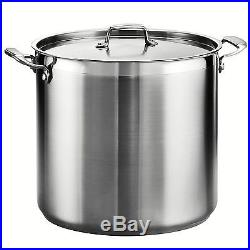 Tramontina 80120/003DS Tramontina Gourmet Stainless Steel Covered Stock Pot 2