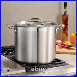 Tramontina Gourmet 12 Qt Tri-Ply Base Stainless Steel Covered Stock Pot NEW