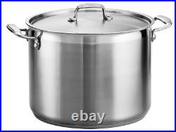 Tramontina Gourmet 16 Qt Tri-Ply Base Stainless Steel Covered Stock Pot NEW