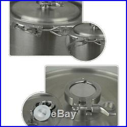 USA5 Gallon Stainless Steel Home Brew Kettle Brewing Stock Pot Beer Wine Set