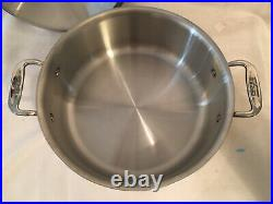 USA All-Clad D3 Stainless Steel 6 Qt. Stockpot with Lid Tri-ply