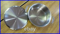 USED- All-Clad 6 qT Stainless Steel Stock Pot With Lid (11)