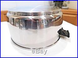 VITA CRAFT 12 QT Stock Pot Roaster RENA WARE Lid Multi Ply Stainless Steel EUC