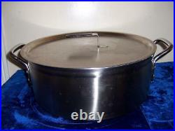 VOLLRATH STAINLESS STEEL 15QT LIDDED STOCK POT No 7 761 WithINSERT STRAINER 14 3/4