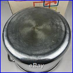 VTG Farberware Aluminum Clad Stainless Steel 16 Qt Quart Sauce Pot & Lid with Box