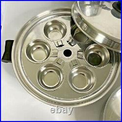 VTG Saladmaster 18-8 Tri Clad Stainless Waterless Pot Poacher Pan 21 Pc set USA