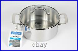 Viking 3-Ply Bonded Stainless Steel Cookware 4 Qt/3.8L Soup Pot