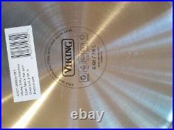 Viking 3 Ply STAINLESS STEEL POT GLASS LID & PASTA INSERT 8 QT40011-3008B. Set