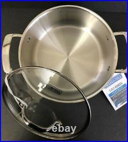 Viking 4 qt. /3.8L Soup Pot 3-Ply 18/8 Stainless Steel 1050 Alloy Core HG674s