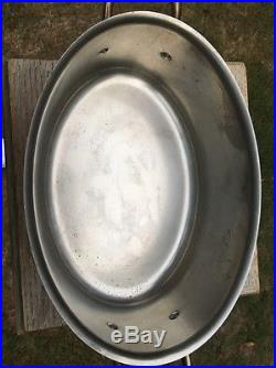Vintage 3.9Qt. Villedieu 12.5 Copper Stew Stock Pan Pot WithLid Stainless Lining