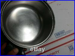 Vintage 4 QT Saladmaster stainless steel Dutch oven stock pot no lid USA