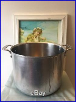 Vintage All Clad Master Chef 12 Quart Stock Pot Frosted Handles Made in USA