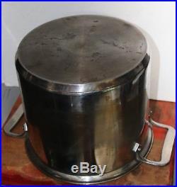 Vintage All Clad large Quart Stock Pot Steam Basket Pasta
