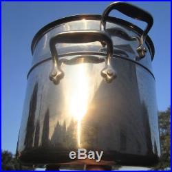 Vintage All-clad Large Stock Pot Steam Basket Pasta Professional + Steel Skillet
