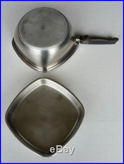 Vintage Aristo-Craft 8 Piece 18-8 Stainless Cookware Set USA Stock Pot Saucepan