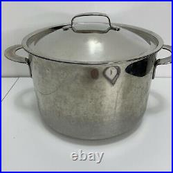 Vintage Dansk 9 1/2 Qt 9.0 L Stainless Steel Stock Pot W Lid Korea