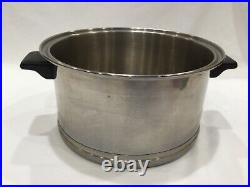 Vintage LIFETIME R6 Stainless Steel 6 Quart QT Soup Stockpot No Lid MADE IN USA