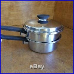 Vintage Lot of Regal Ware Seal-O-Matic cookware 3 Ply Stainless Steel