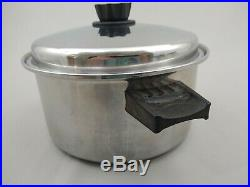 Vintage Lustre Craft By West 18-8 Stainless Steel 3 Ply 6 Qt Stock Pot With Lid