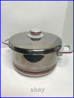 Vintage Mid Century Fissler WGermany Stainless Steel 5 QT Pot Carina Lid Handle