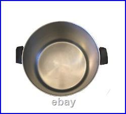 Vintage REVERE WARE 16 QUART STAINLESS STEEL Copper Bottom cook stock Pot USA